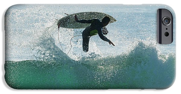 Luz iPhone Cases - Spain, Andalusia, Cadiz, Male Surfer iPhone Case by Ben Welsh
