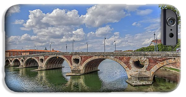 Abstract Digital Pyrography iPhone Cases - Spain Bridge-5 iPhone Case by Mauro Celotti