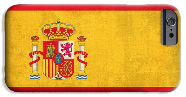 Recently Sold -  - Nation iPhone Cases - Spain Flag Vintage Distressed Finish iPhone Case by Design Turnpike