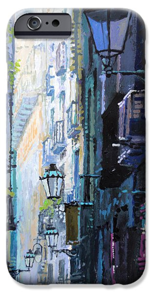 Buildings iPhone Cases - Spain Series 06 Barcelona iPhone Case by Yuriy Shevchuk