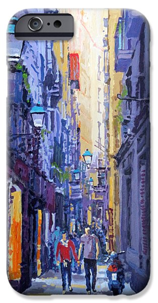 Buildings iPhone Cases - Spain Series 10 Barcelona iPhone Case by Yuriy Shevchuk