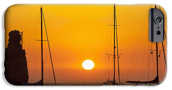 Concept iPhone Cases - Spain, Yachts And Strange Shaped Rock iPhone Case by Ian Cumming