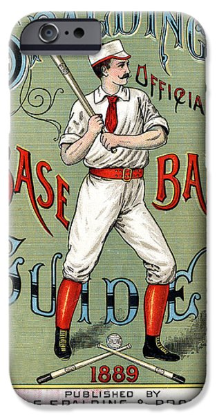 Spalding Baseball Ad 1189 iPhone Case by Unknown