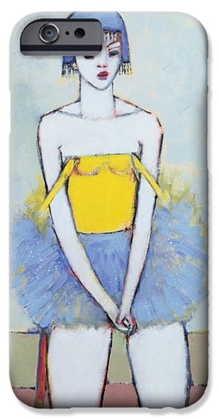 Ballet Dancers iPhone Cases - Spangled Tutu Oil On Board iPhone Case by Endre Roder