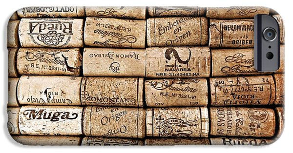 Wine Bottles iPhone Cases - Spanish Corks iPhone Case by Clare Bevan