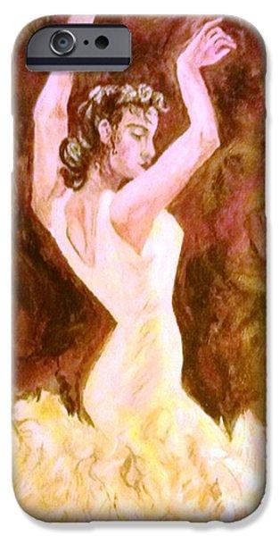 Michelle iPhone Cases - Spanish Dancer iPhone Case by Michelle Reid