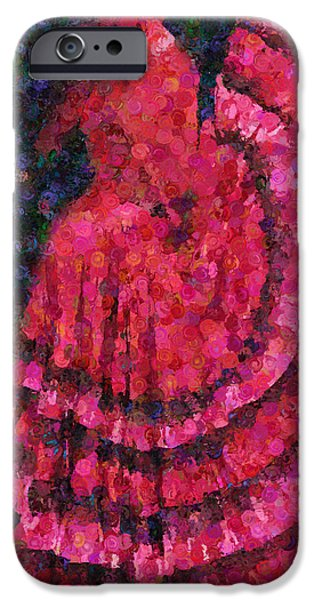 Business Digital Art iPhone Cases - Spanish Dress  iPhone Case by Georgiana Romanovna
