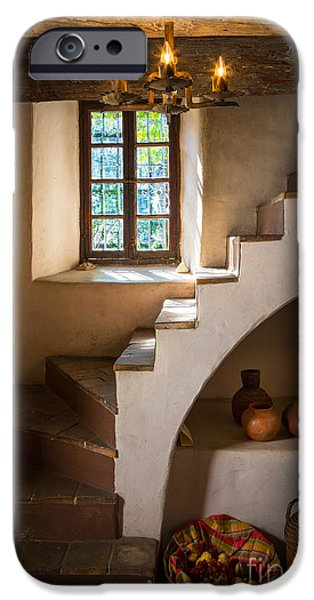 Staircase iPhone Cases - Spanish Governors Palace iPhone Case by Inge Johnsson