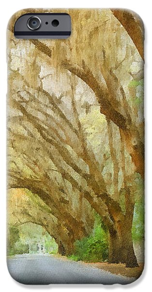 Spanish Moss - Symbol of the South iPhone Case by Christine Till