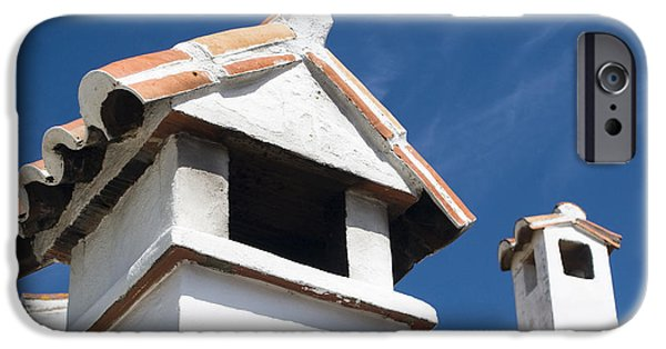 Malaga iPhone Cases - Spanish Rooftops iPhone Case by Anne Gilbert