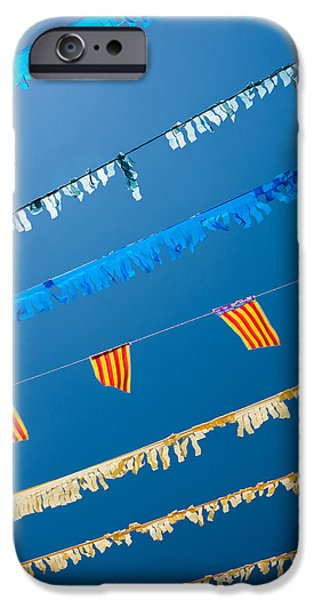 Freedom Party iPhone Cases - Spanish Street Bunting  iPhone Case by Chay Bewley