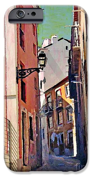Alley Mixed Media iPhone Cases - Spanish Town iPhone Case by Sarah Loft