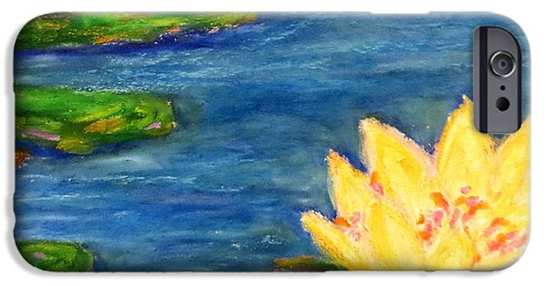 Aquatic Pastels iPhone Cases - Sparking Lillies iPhone Case by Daniel Dubinsky