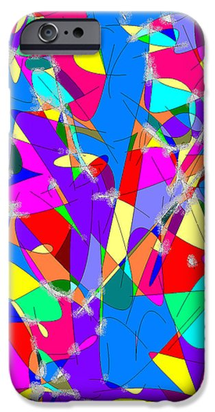 Colourful iPhone Cases - Sparkle iPhone Case by Ingrid Van Amsterdam
