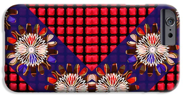 Diy iPhone Cases - Sparkle sunflower RedSquares Chakra ART Decorations Artist created Images Textures Patterns Backgrou iPhone Case by Navin Joshi