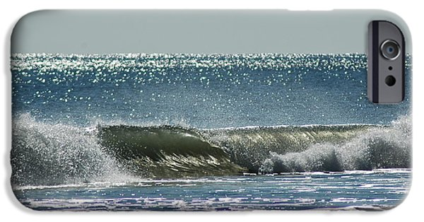 Iphone iPhone Cases - Sparkle Wave iPhone Case by M West
