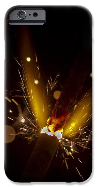 Sparkler macro iPhone Case by SteveHPhotos