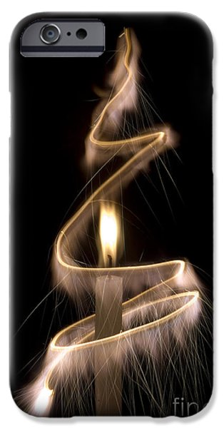 Candle Lit iPhone Cases - Sparkling Light iPhone Case by Tim Gainey