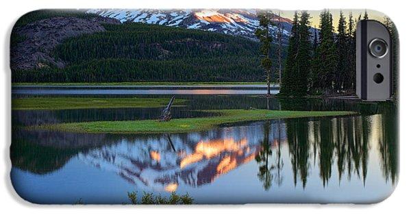 Park Scene iPhone Cases - Sparks Lake Sunrise iPhone Case by Inge Johnsson
