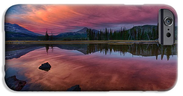 Sunset iPhone Cases - Sparks Lake Sunset iPhone Case by Exquisite Oregon