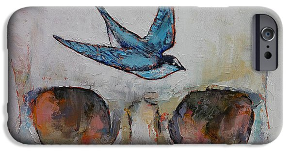 Swallows iPhone Cases - Sparrow iPhone Case by Michael Creese