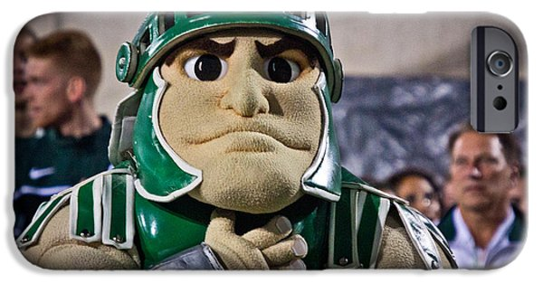 Universities Photographs iPhone Cases - Sparty and Izzo National Anthem  iPhone Case by John McGraw