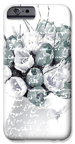 Speak Softly Tulips iPhone Case by Debra  Miller