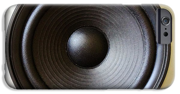 Electronics Photographs iPhone Cases - Speaker iPhone Case by Les Cunliffe