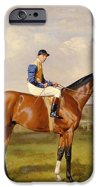 Spearmint Winner of the 1906 Derby iPhone Case by Emil Adam