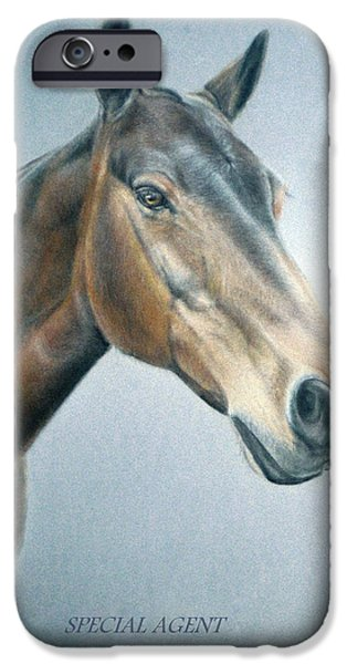 Animal Cards Pastels iPhone Cases - Special Agent iPhone Case by Rosemary Colyer