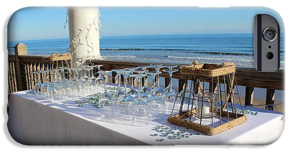 Table Wine iPhone Cases - Special Event At The Beach iPhone Case by Cynthia Guinn