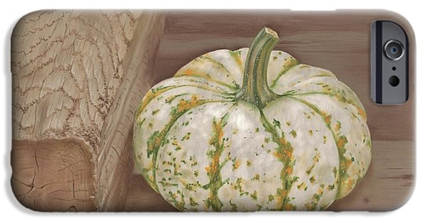Farmstand Paintings iPhone Cases - Speckled Gourd iPhone Case by Tracy Meola