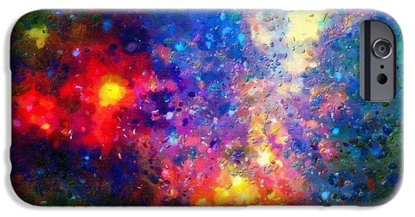 Outer Space Paintings iPhone Cases - Spectacular outer space iPhone Case by Magomed Magomedagaev
