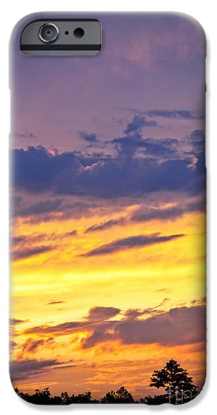 Hue iPhone Cases - Spectacular sunset iPhone Case by Elena Elisseeva