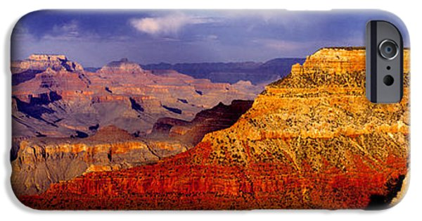 Red Rock iPhone Cases - Spectators At The Grand Canyon, Grand iPhone Case by Panoramic Images