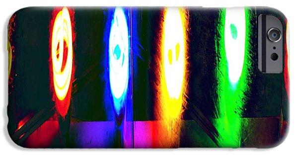 Spectrum Mixed Media iPhone Cases - Spectrum iPhone Case by Tommi Trudeau