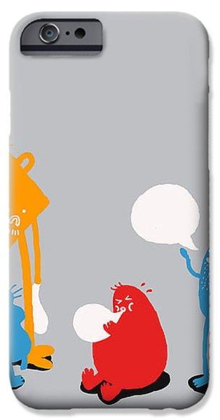 Speech Bubble iPhone Case by Budi Satria Kwan