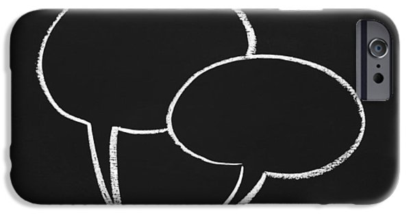 Concept iPhone Cases - Speech Bubbles on a Chalboard iPhone Case by Chevy Fleet