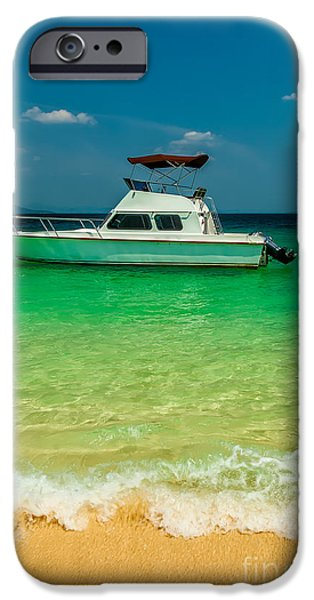 Charters iPhone Cases - Speed Boat iPhone Case by Adrian Evans