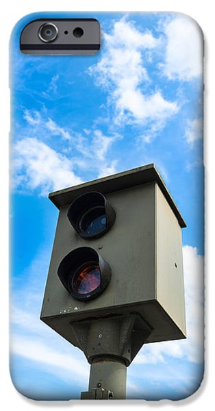 Police Traffic Control iPhone Cases - Speed camera iPhone Case by Frank Gaertner