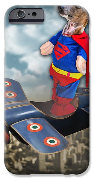 Speedolini Flying High iPhone Case by Kathy Tarochione