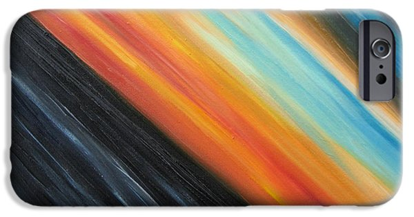 Abstract Expressionist iPhone Cases - Speedy Sunset iPhone Case by Tiffany Davis-Rustam