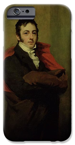 Reformer iPhone Cases - Spencer, 2nd Marquess Of Northampton, 1821 iPhone Case by Sir Henry Raeburn