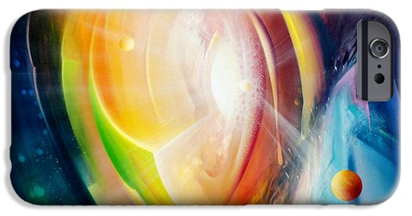 Macrocosm iPhone Cases - Sphere B11 iPhone Case by Drazen Pavlovic