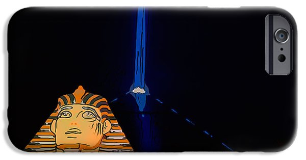 The Strip iPhone Cases - Sphinx and Luxor Hotel Beam Las Vegas - Pop Art Style iPhone Case by Ian Monk
