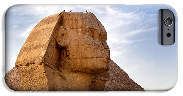 Great Mysteries iPhone Cases - Sphinx Egypt iPhone Case by Jane Rix