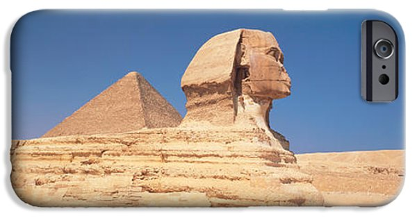 Monolith iPhone Cases - Sphinx Giza Egypt iPhone Case by Panoramic Images