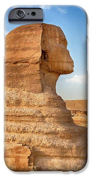 Civilization iPhone Cases - Sphinx profile iPhone Case by Jane Rix