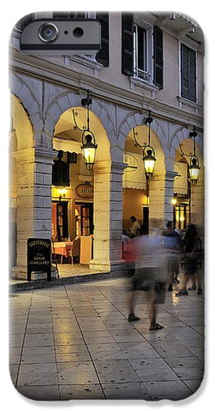 Spianada square during dusk time iPhone Case by George Atsametakis