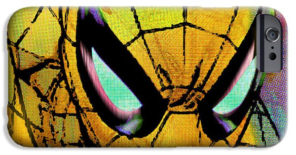 Empower iPhone Cases - Spider-Man Pop Gold iPhone Case by Tony Rubino